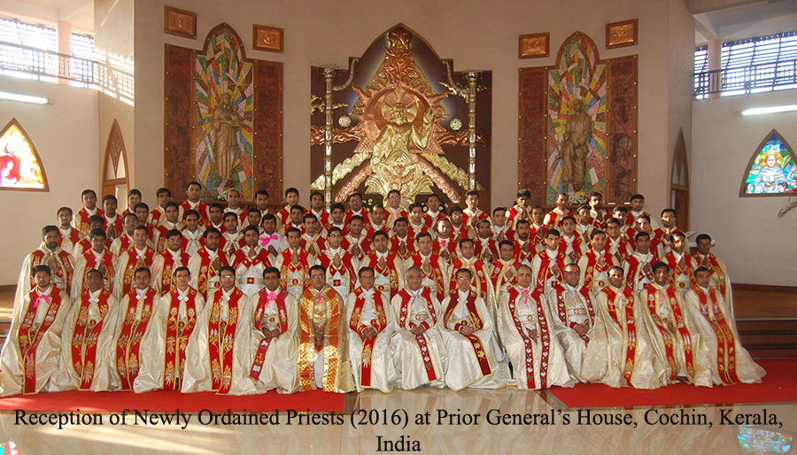 Newly Ordaind Priests at Prior General' House, Reception